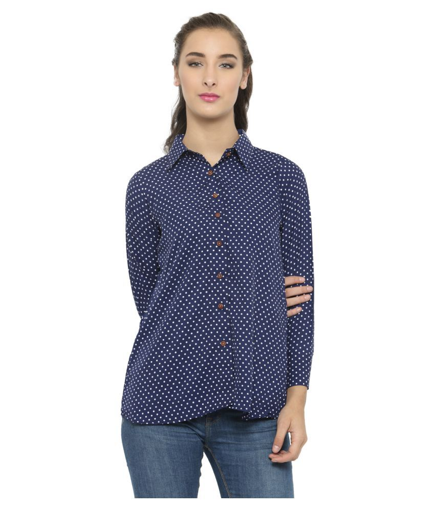 Enchanted Drapes Poly Crepe Shirt