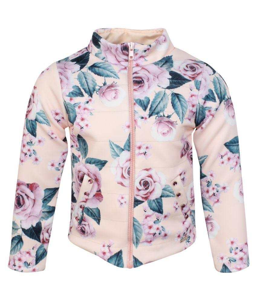 Cutecumber Girls Partywear Winter Waistline Neoprene Jacket