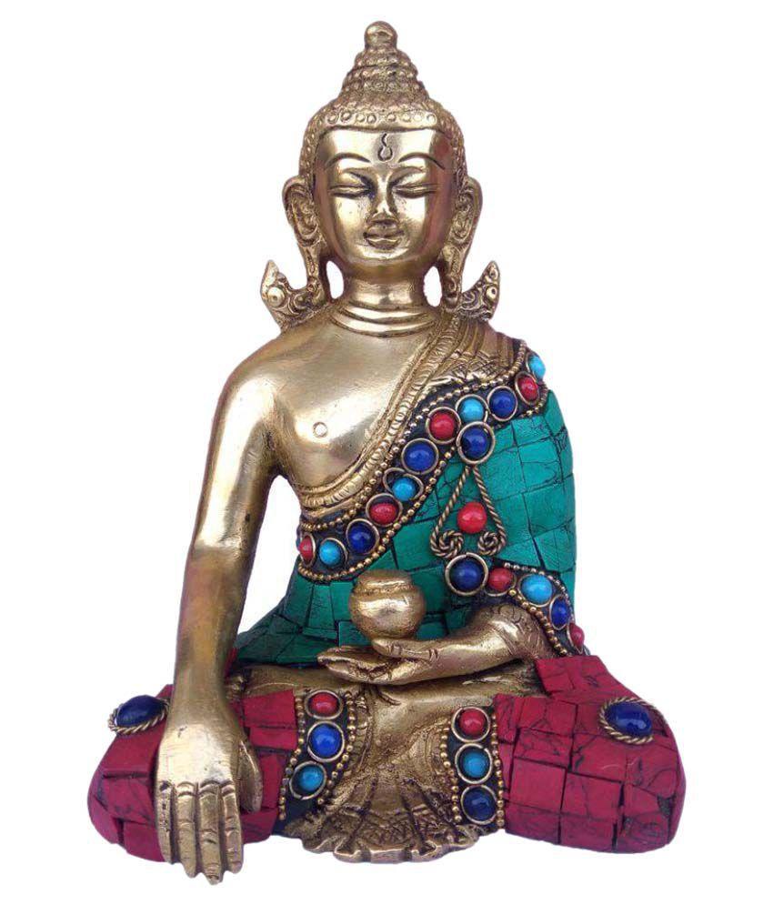 Hunar Arts & Handicrafts Buddha Brass Idol