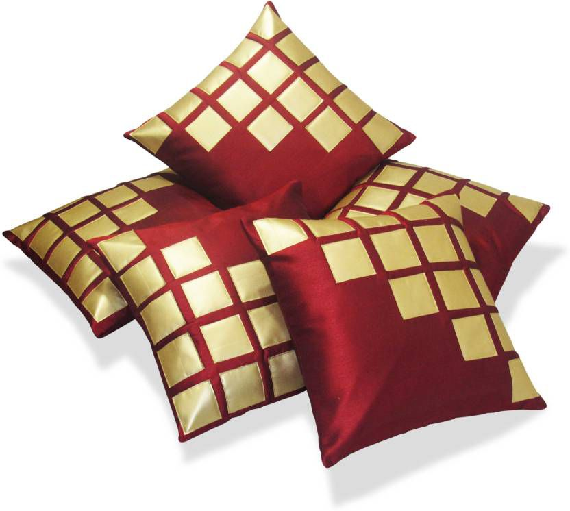 Siesta Set Of 5 Polyester Cushion Covers 40X40 cm (16X16)