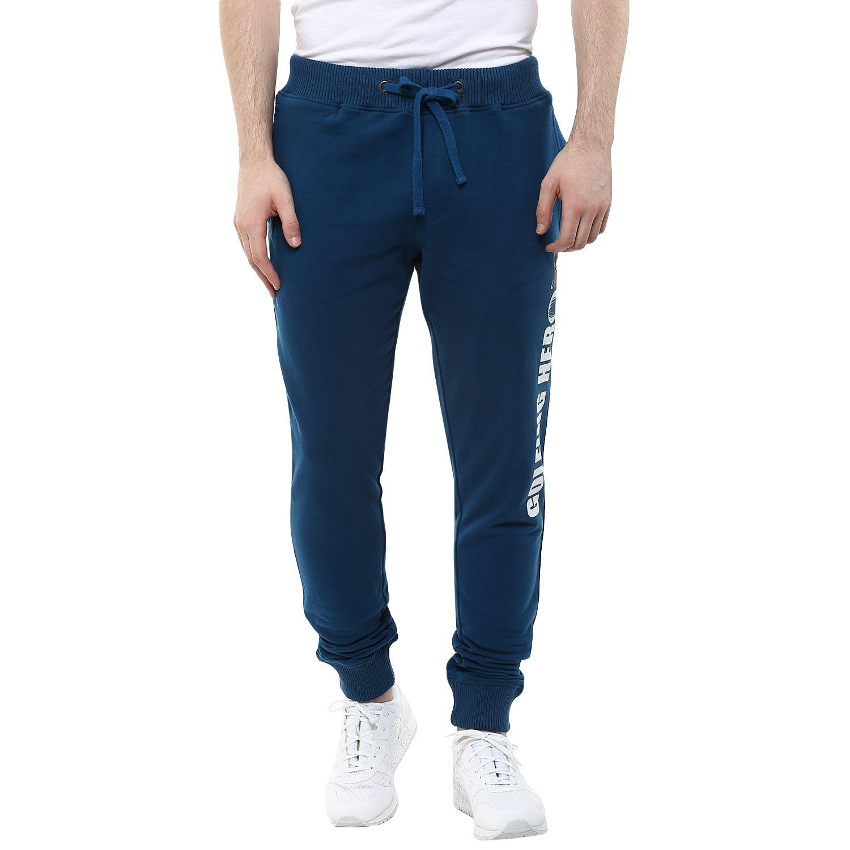Wear Your Mind Blue Regular -Fit Flat Joggers