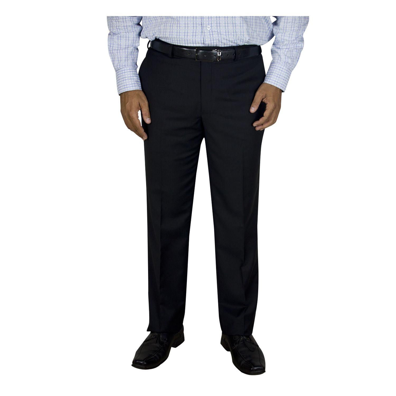 Kinger Black Regular -Fit Flat Trousers