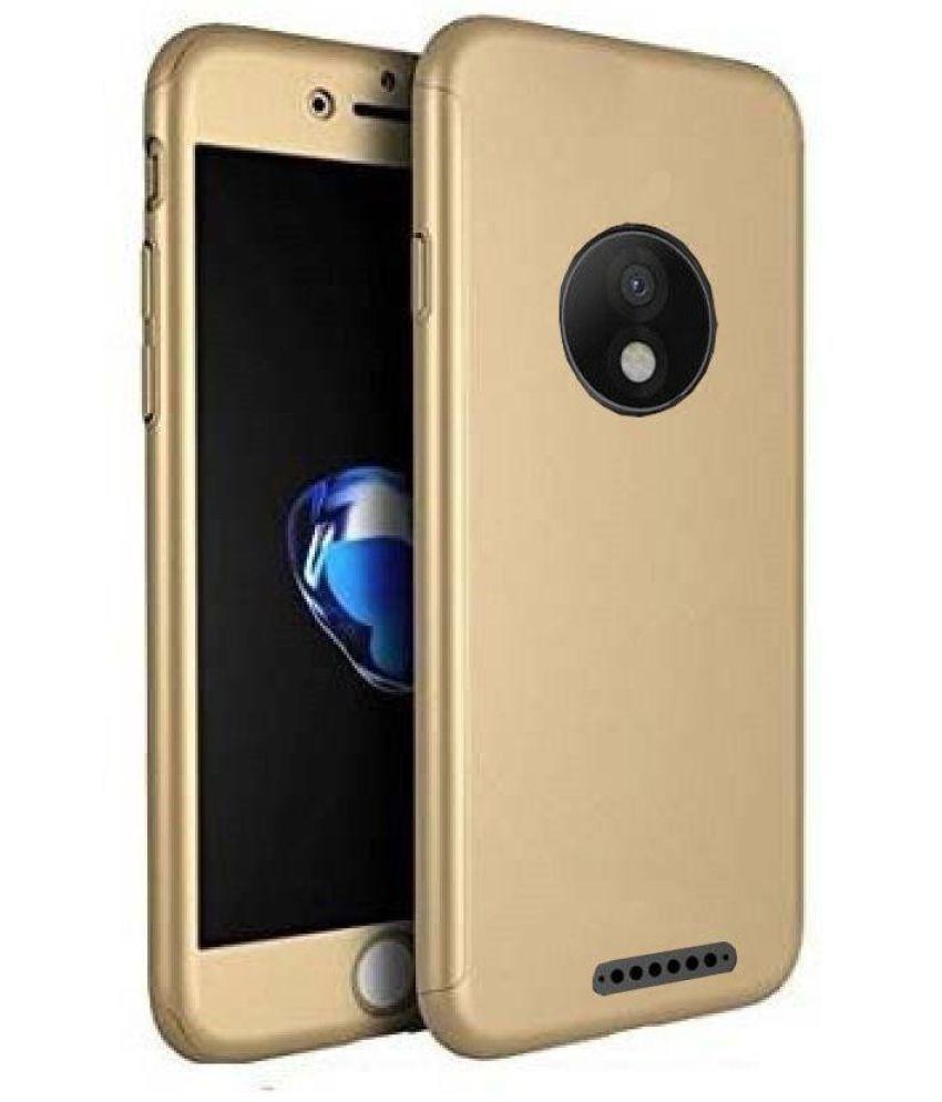 Motorola Moto C Plus Anti Gravity Cover ClickAway - Golden
