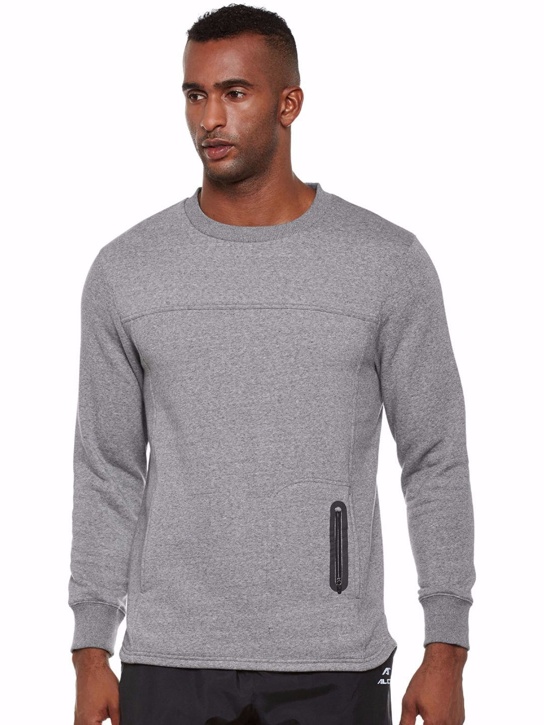 Alcis Men Grey Easy Train Sweat