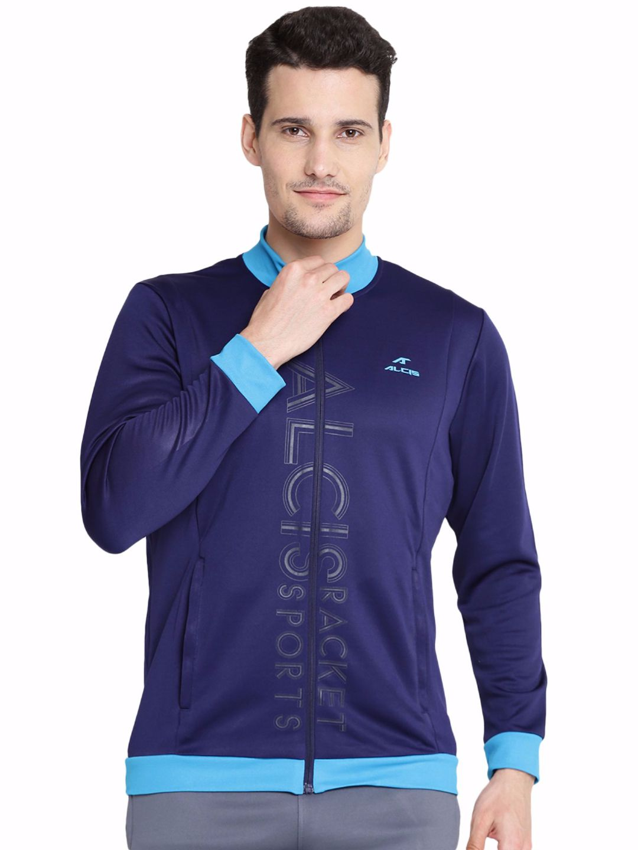 Alcis Men Navy Printed Jacket