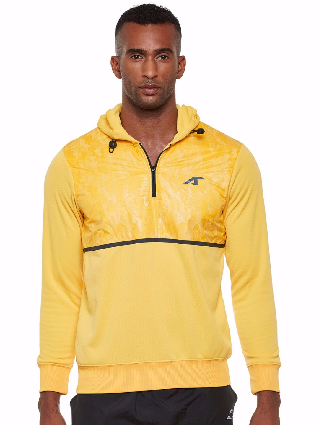 Alcis Men Yellow Train Hoodie