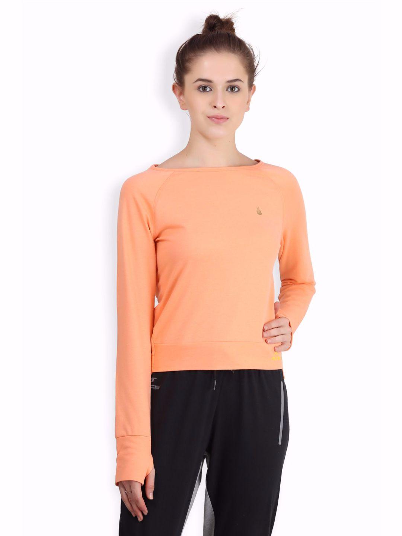 Alcis Women Orange Hem Top