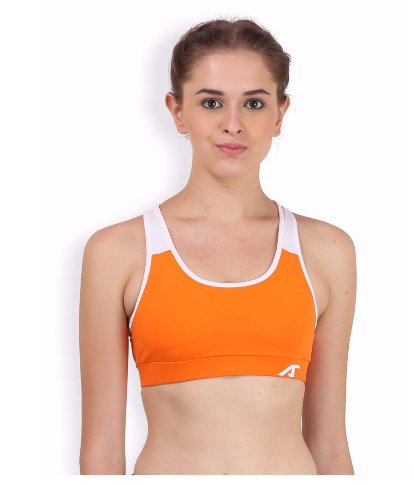 Alcis Women Orange Super Sport Bra