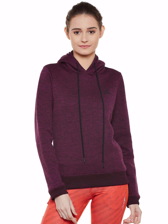 Alcis Women Purple Slounge Hoodie