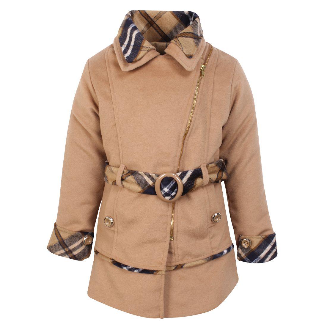 Cutecumber Girls Partywear Heavy Winter Coat Fabric Jacket