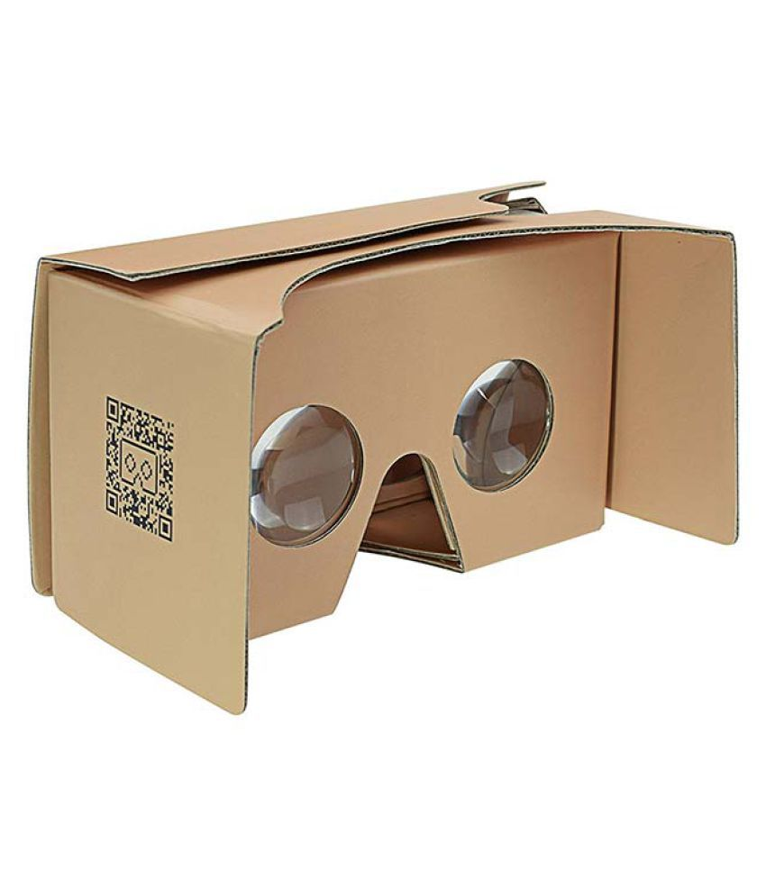 Ptron Diy Cardboard Vr Glasses Upto 14 Cm 5 5 Vr Headset Not Including Display Device