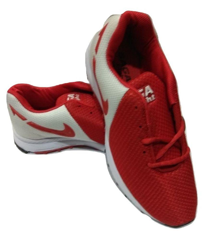 RW SAGA Running Shoes Red: Buy Online