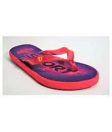 LADY CROWN Red Slide Flip flop