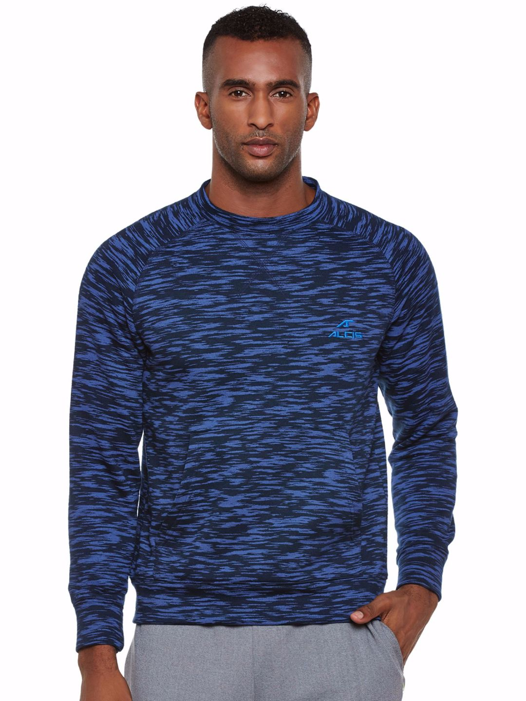 Alcis Men Blue Full Sleeve Sweatshirt
