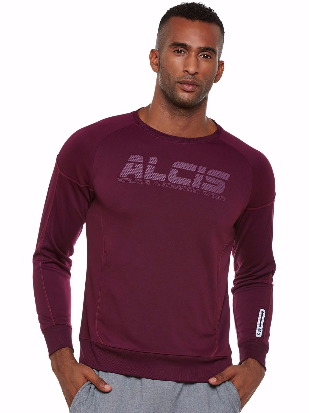 Alcis Men Purple Run Sweat