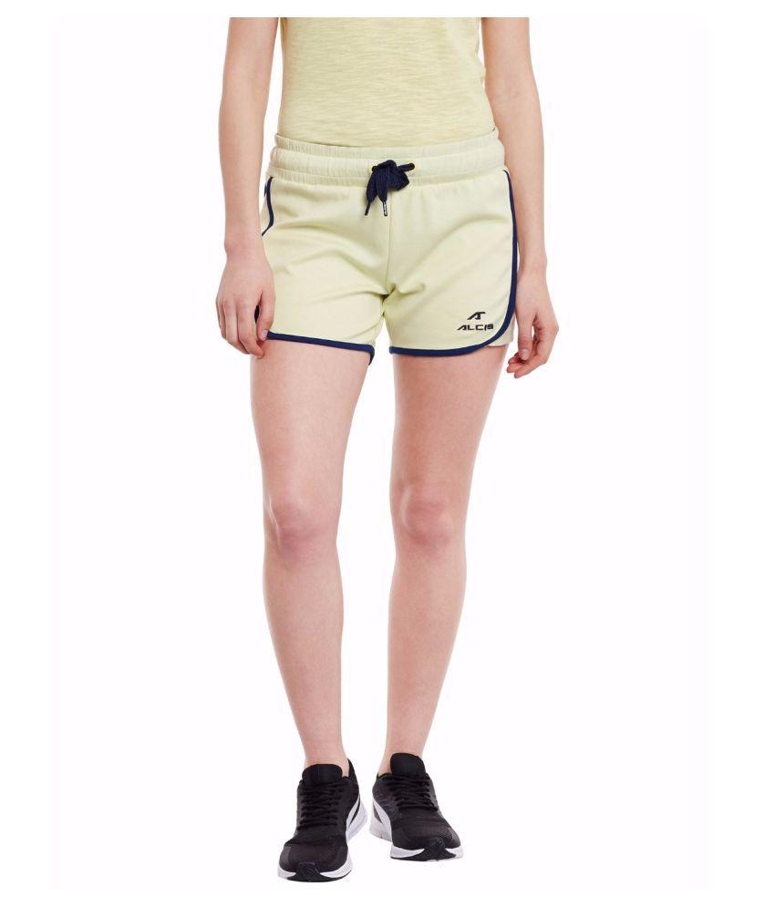 Alcis Women Green Core Shorts