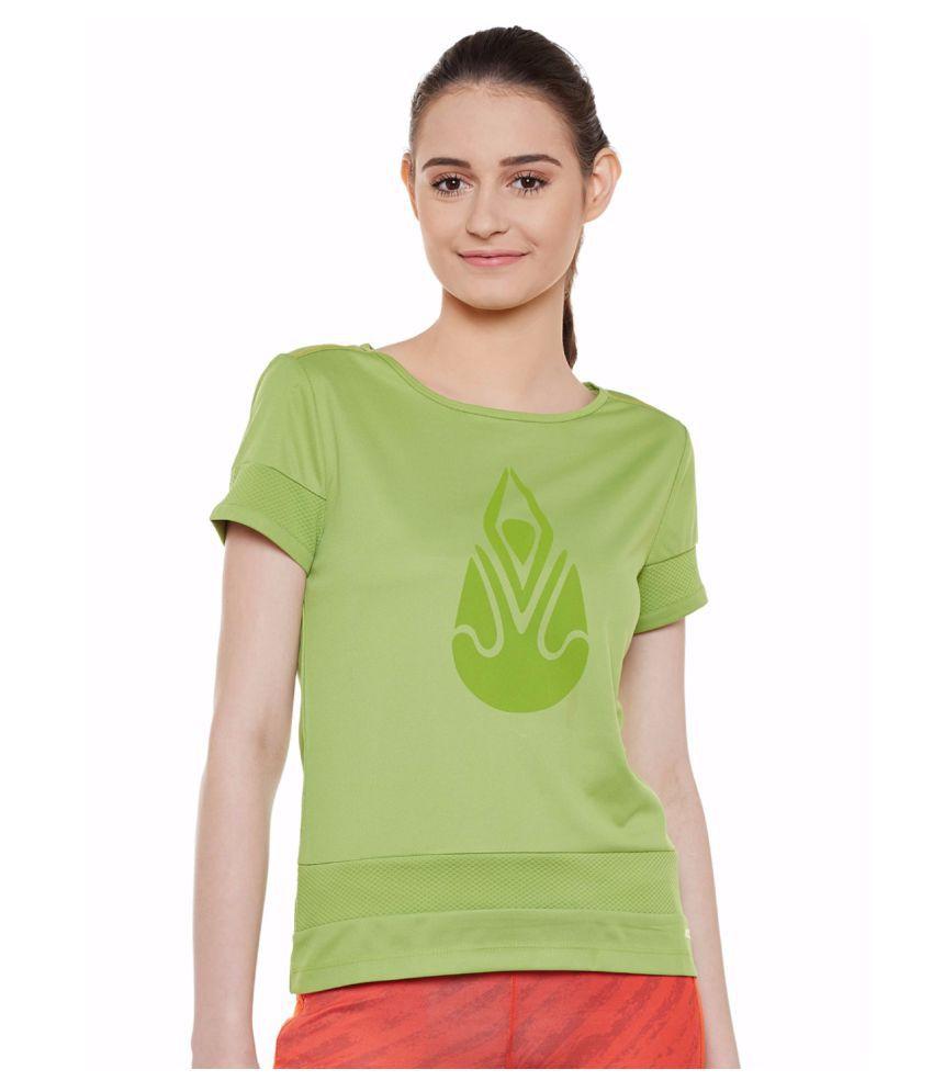 Alcis Women Green Yoga Tee