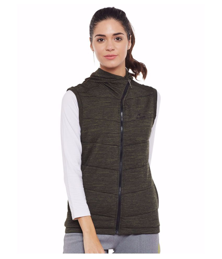 Alcis Women Olive Run Quilted Jacket
