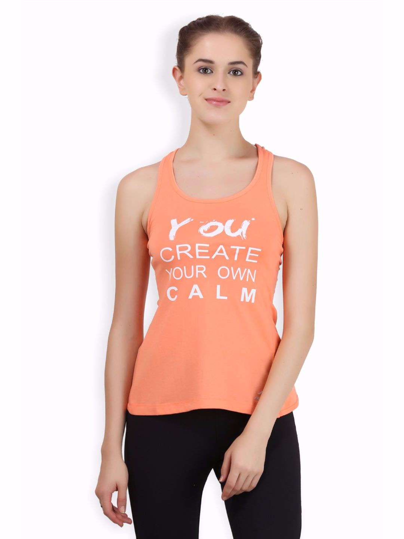 Alcis Women Orange Twisted Top