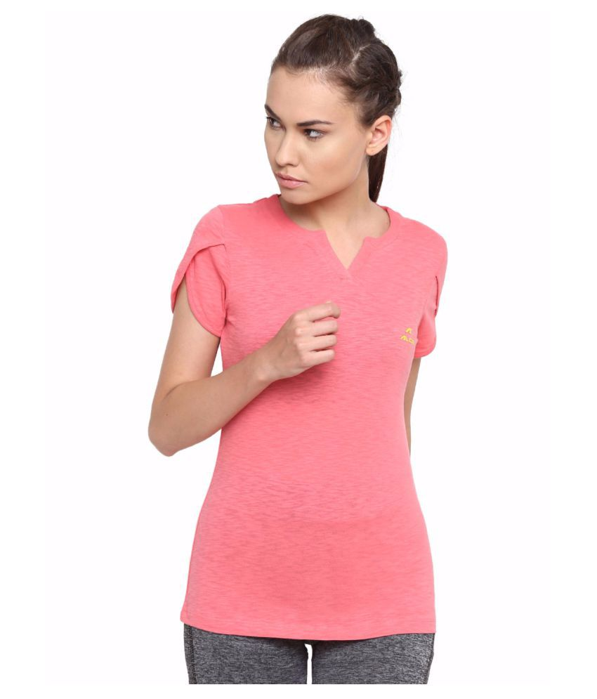 Alcis Women Pink Cotton Tee