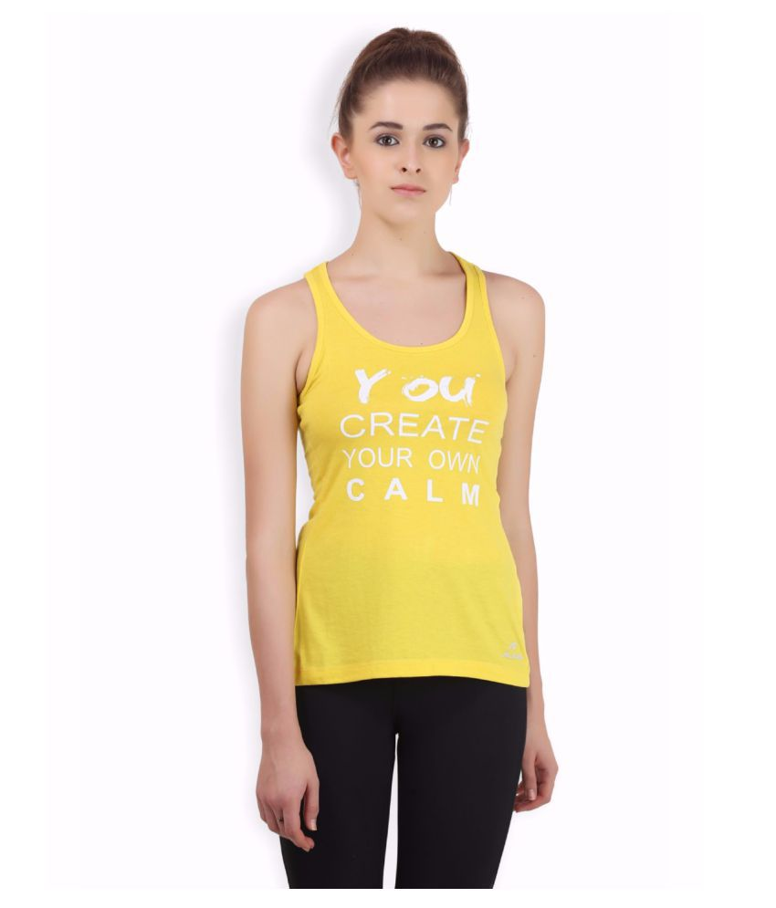 Alcis Women Yellow Twisted Top