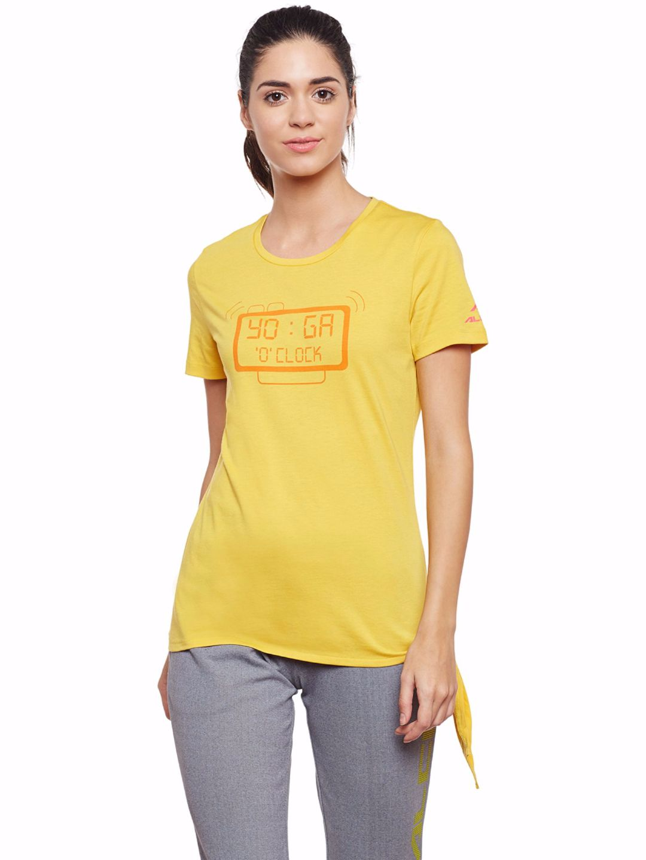Alcis Women Yellow Yoga Tee