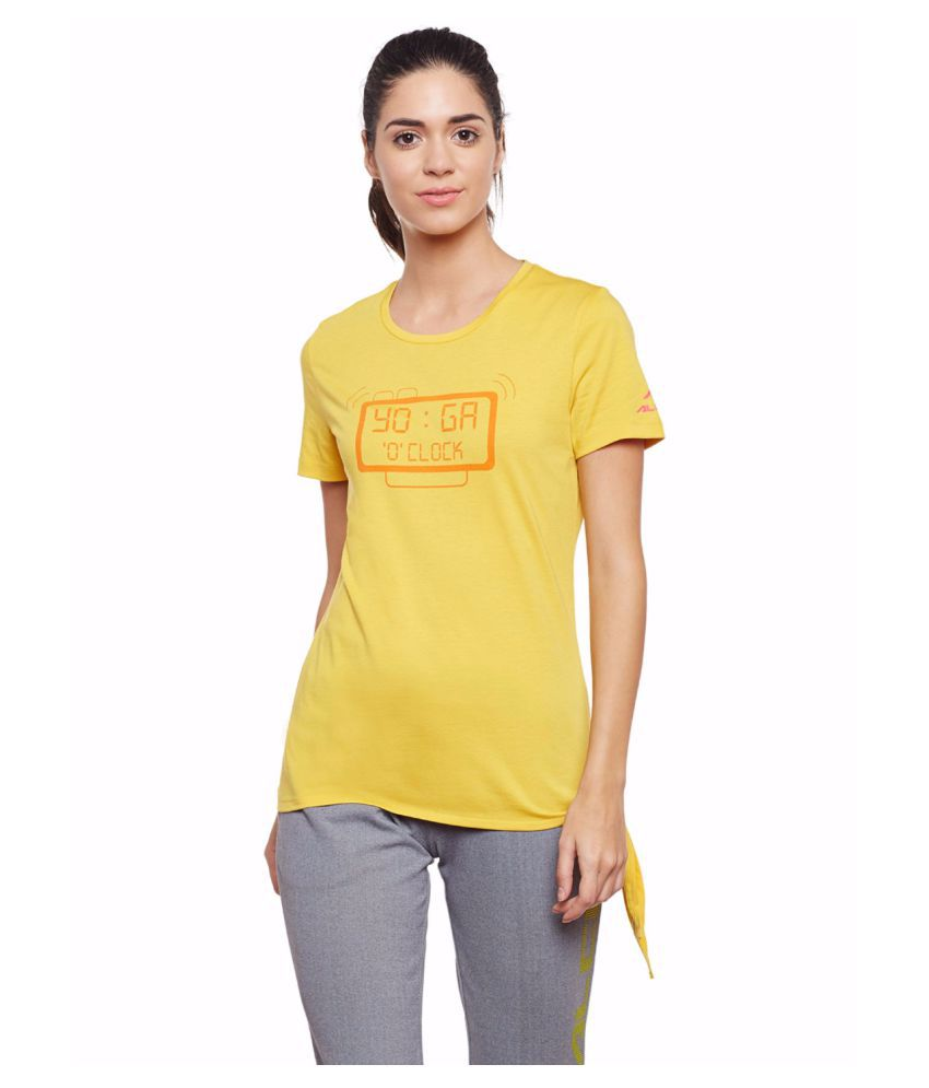 Alcis Women Yellow Yoga Tee