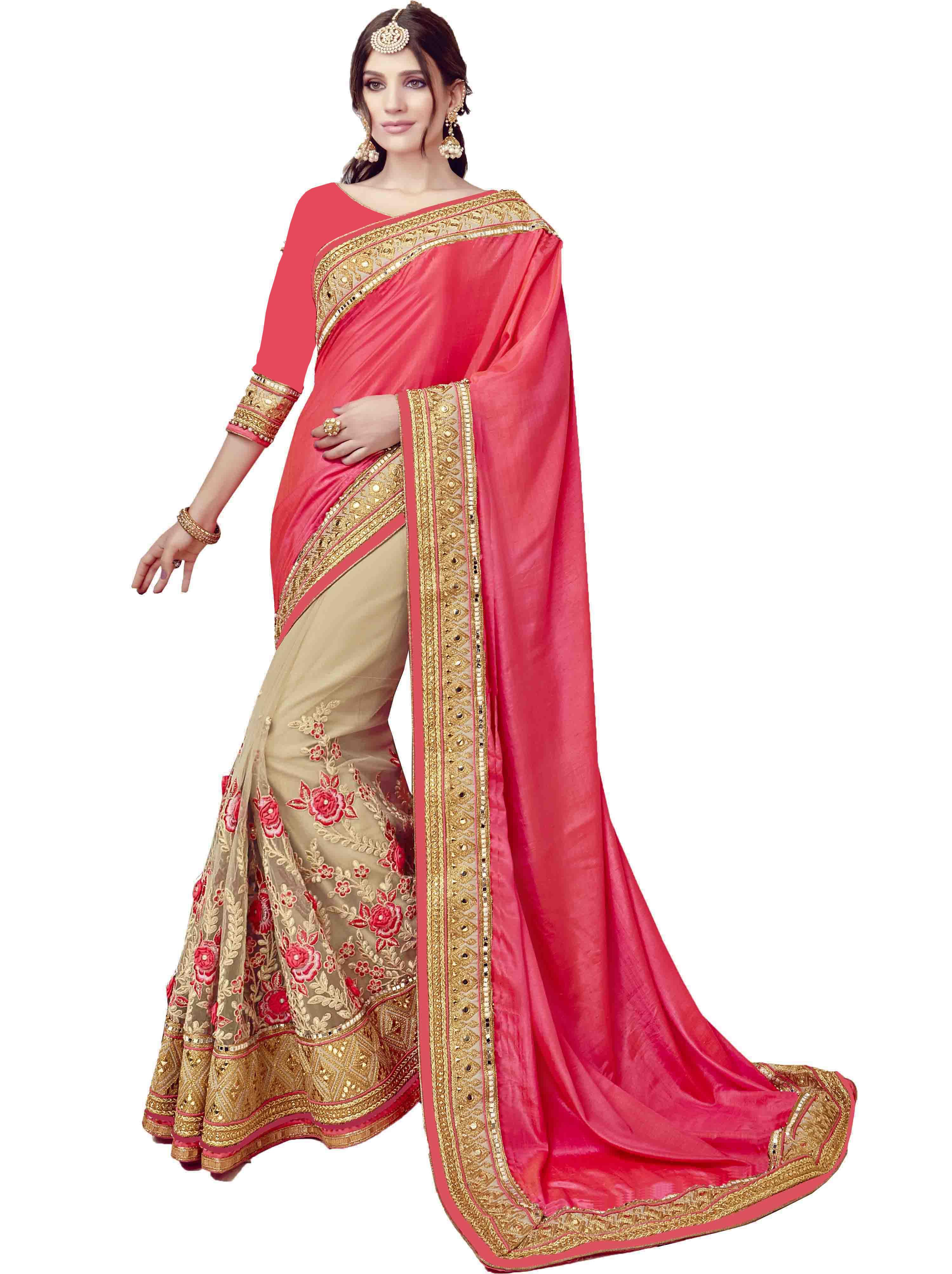 6461503543e SareeShop Designer SareeS Peach Silk Saree.. Snapdeal.com: Buy SareeShop  Designer SareeS Peach Silk Saree Online At Best Price In India.