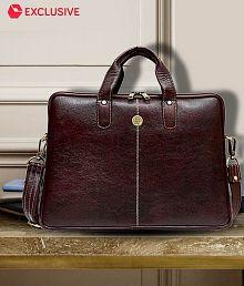 Hammonds Flycatcher Latest Design Brown Genuine Leather Office Bag