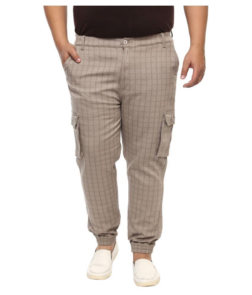 John Pride Brown Regular Fit Jeans