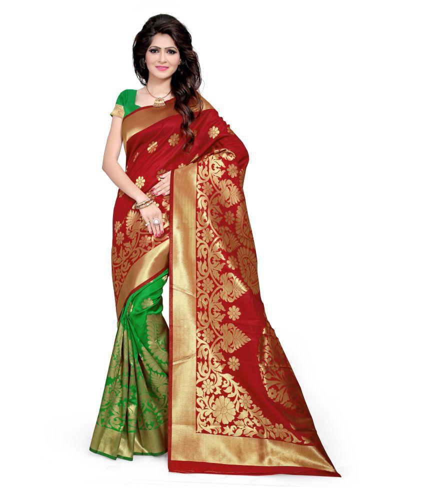Manvaa Multicoloured Silk Saree