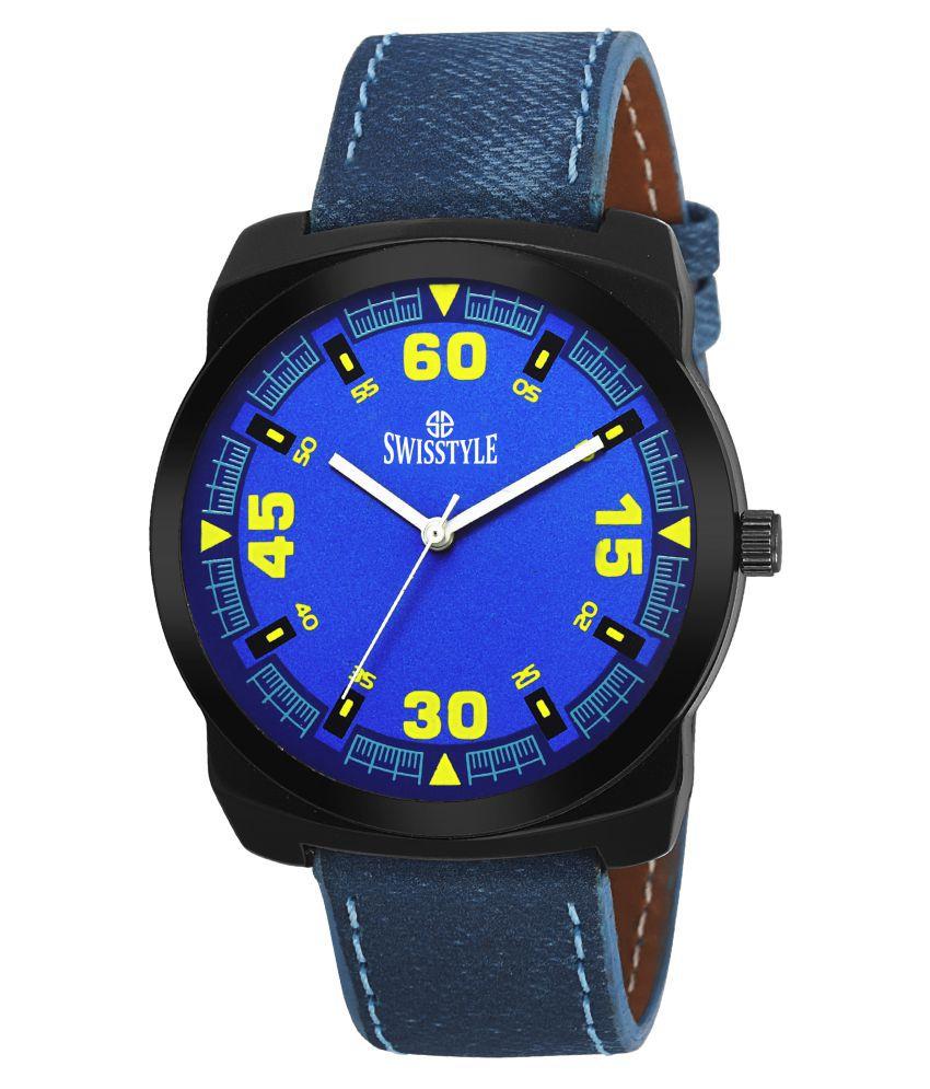 Swisstyle analogue watches for men SS GR822 BLU BLU