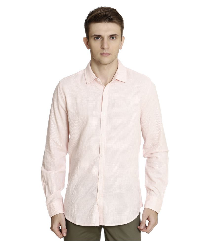 United Colors of Benetton Pink Slim Fit Shirt