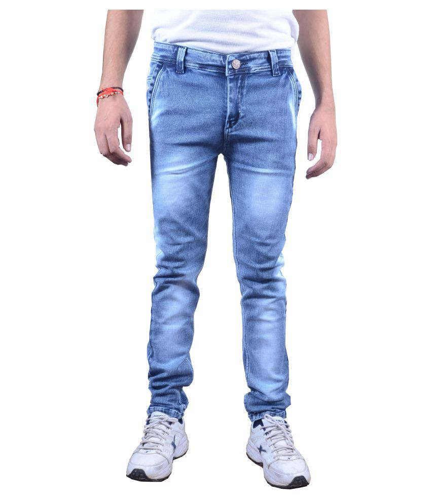 Zimboo Light Blue Regular Fit Jeans