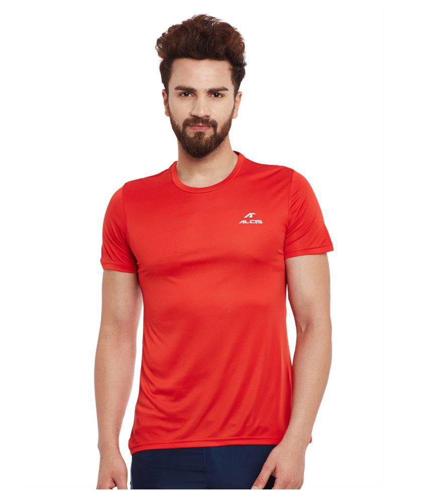 Alcis Mens Red Tee