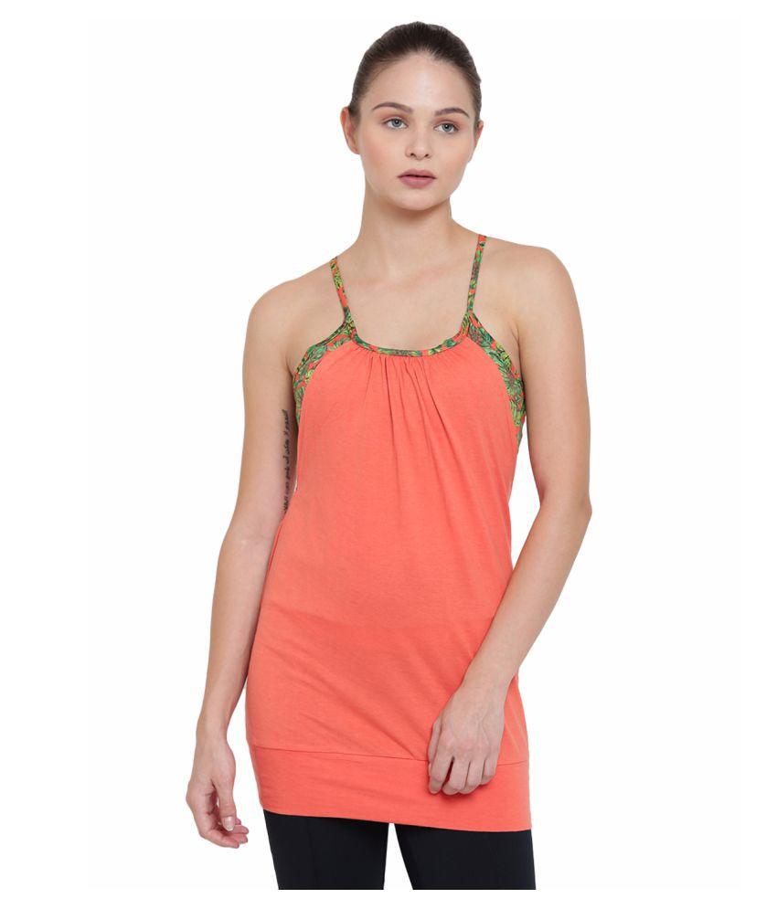 Alcis Womens Orange Tank Top