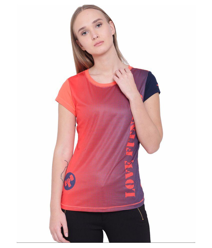Alcis Womens Orange Top