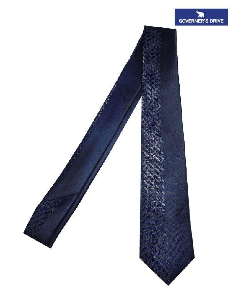 Governer's Drive Blue Printed Micro Fiber Necktie