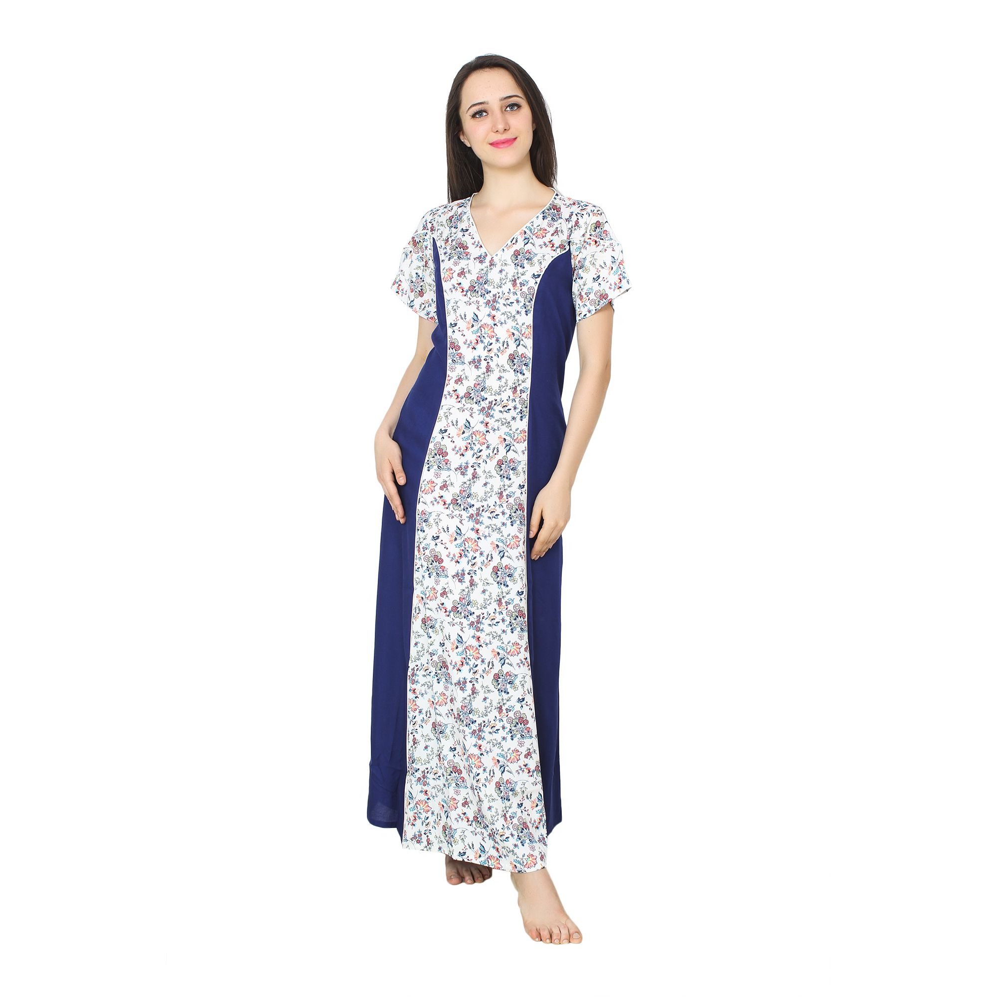 2864d959ad Buy Patrorna Viscose Nighty   Night Gowns - Multi Color Online at Best  Prices in India - Snapdeal
