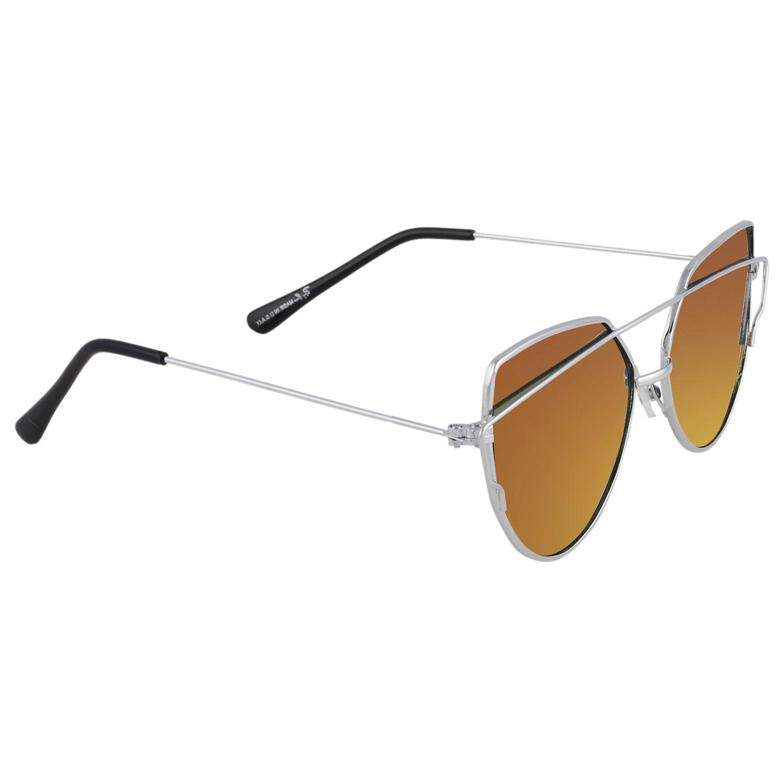Poloport Brown Panto Sunglasses ( D15 )