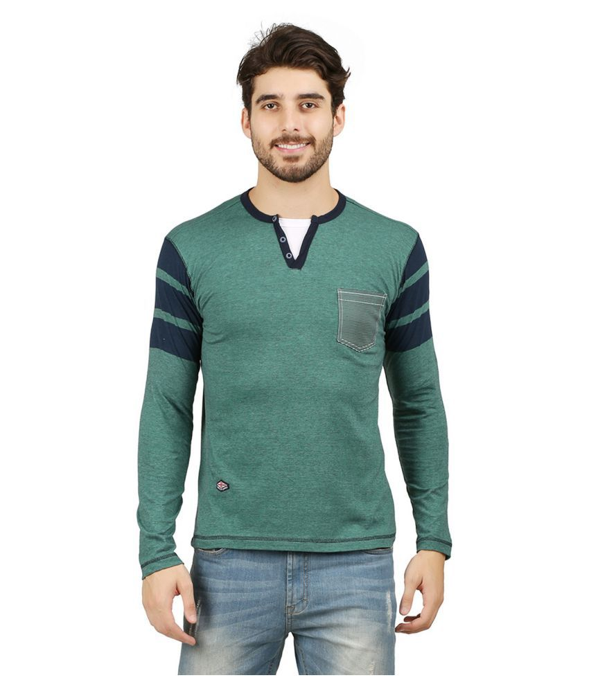 Wexford Green Henley T-Shirt Pack of 1