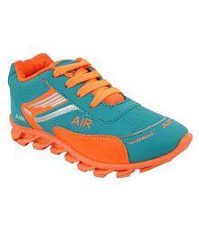 bunnies girl sport shoe (c.green/orange)