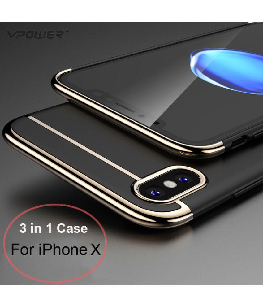buy online 27abb ecb96 Apple iPhone X Plain Cases Ipaky - Black