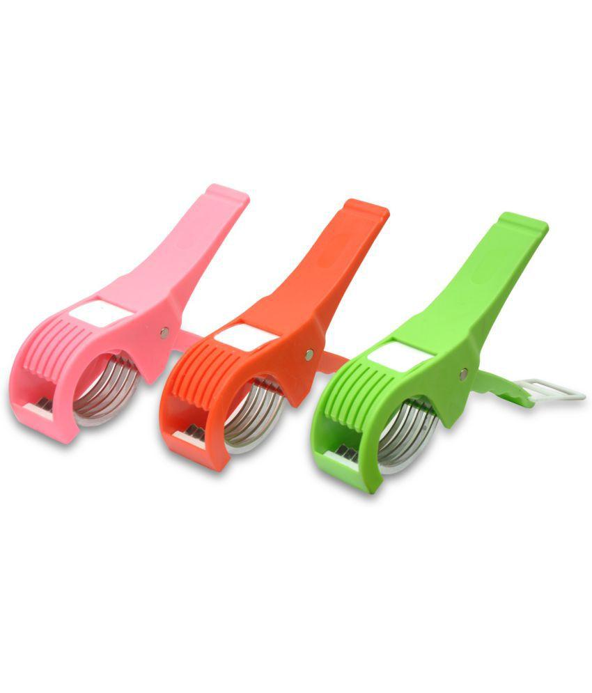 Combo of Roxa Vegetable Cutter 5X Slicer Pack of 3 (Multi Color)