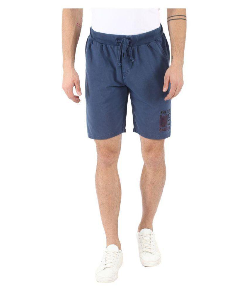 Grain Navy Shorts
