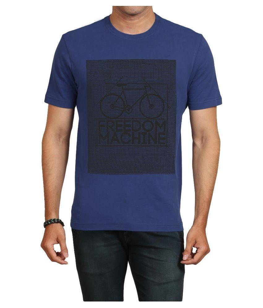 IND TWIST Navy Round T-Shirt Pack of 1