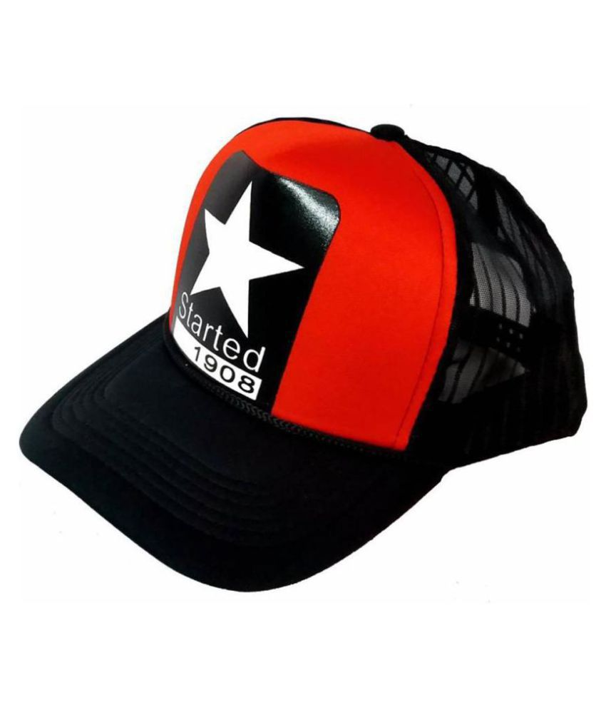 Promoworks Red Printed Polyester Caps