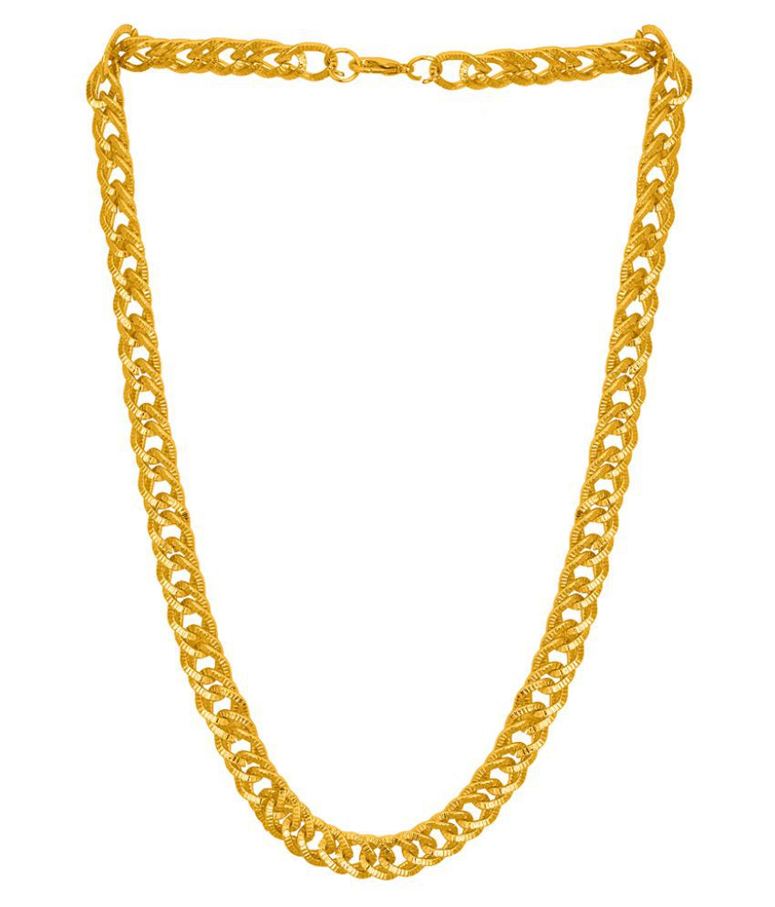 Dare by Voylla Gold Plated Rope Chain for Men