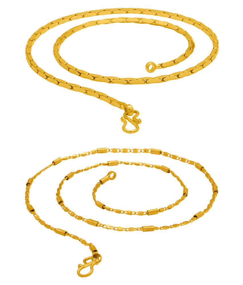 Dare by Voylla Pack of 2 Men's Brass Chain