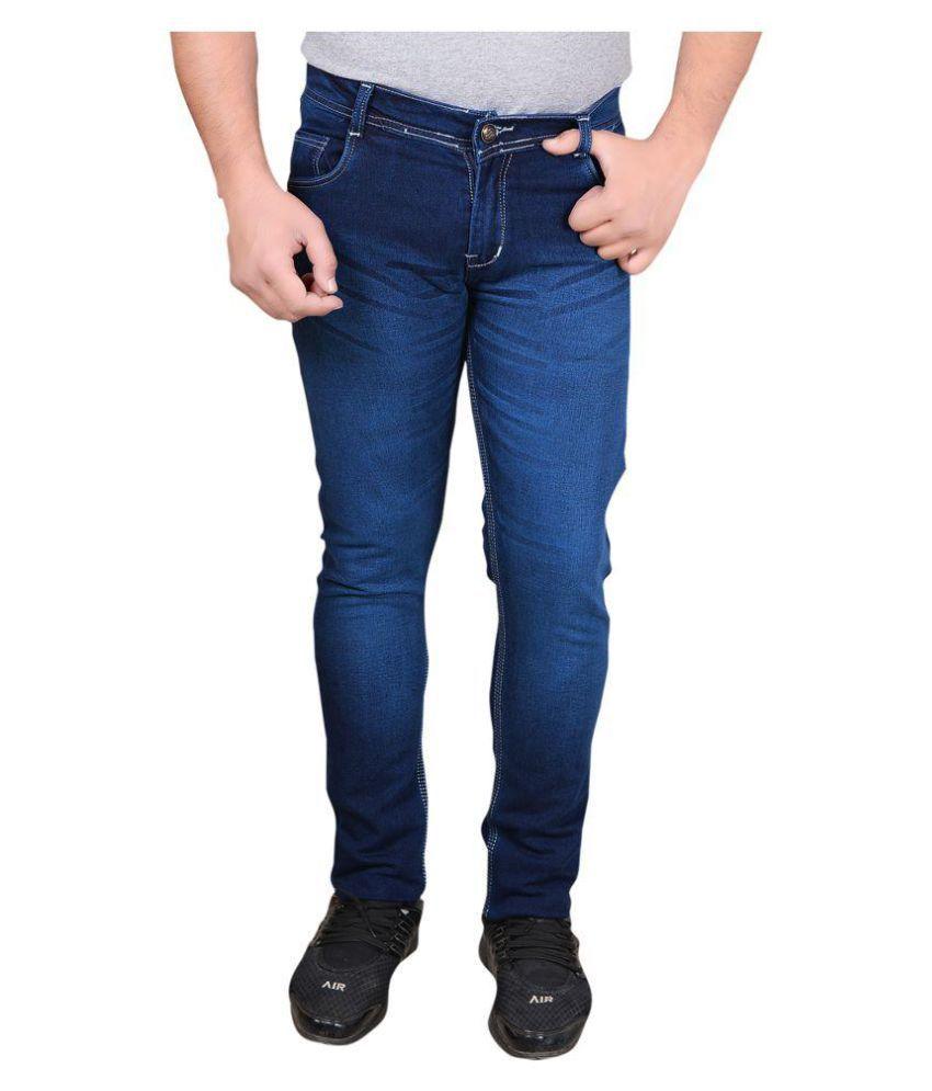 Dom & B Navy Blue Slim Jeans